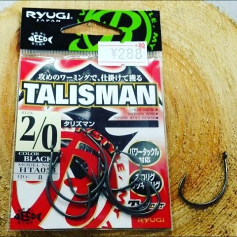 やっぱり刺さるわ、タリズマン… #ryugi #talisman #tcコート #フッ素コートって本当に貫通力バツグンですよね #口の硬い所に刺さっててビックリするし