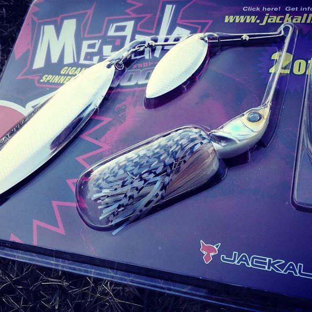 """ついに""""メガロドーン""""発見! #jackall #megalodooon #spinnerbait #2oz #極太ワイヤー #1.4mm #スーパーディープを横に引きたい #トレーラーフック付"""