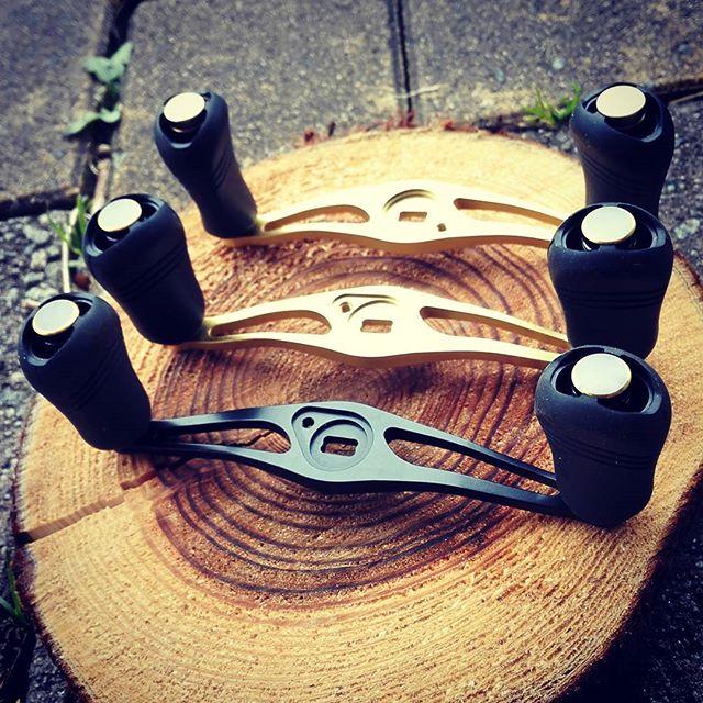 Avail製ロングハンドル、95,100,105mm勢揃い! #avail #reelcustom #longhandle #オフセットハンドル #STi2 #強度重視 #なのに軽め #どれが一番自分に合うか???