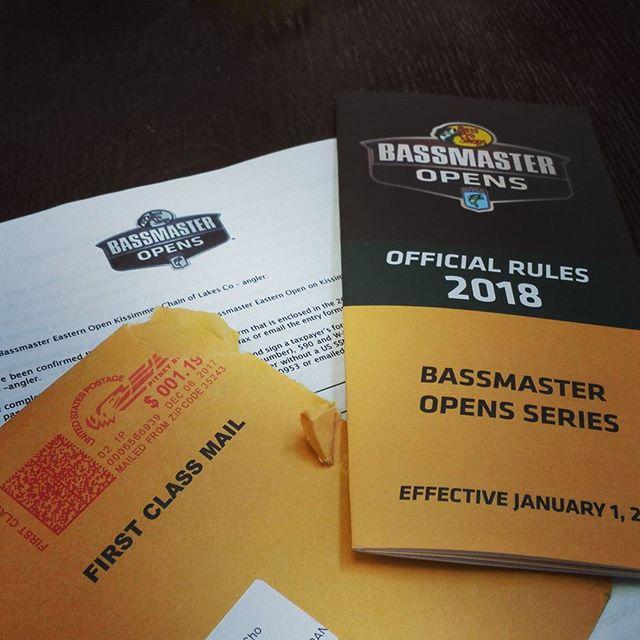 クリスマス・メールが届きました… #bassmaster #バスマスター #オープン #bassmasteropens #時は来た #2018は挑戦の年です…