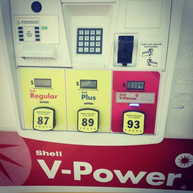 ガソリンは3種類。しかもエタノールが入ってます…
