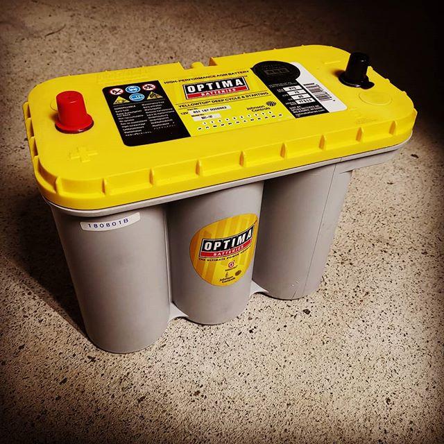 ついに「オプティマ」導入です…!#optima #バッテリー #オプティマバッテリー #イエロートップ#値段は結構高いけど #ボイジャーよりもロングライフ #結局は安くつくらしい #エンジンの始動性も抜群 #ただし充電器には注意が必要? #今度は長くもたせたいです…