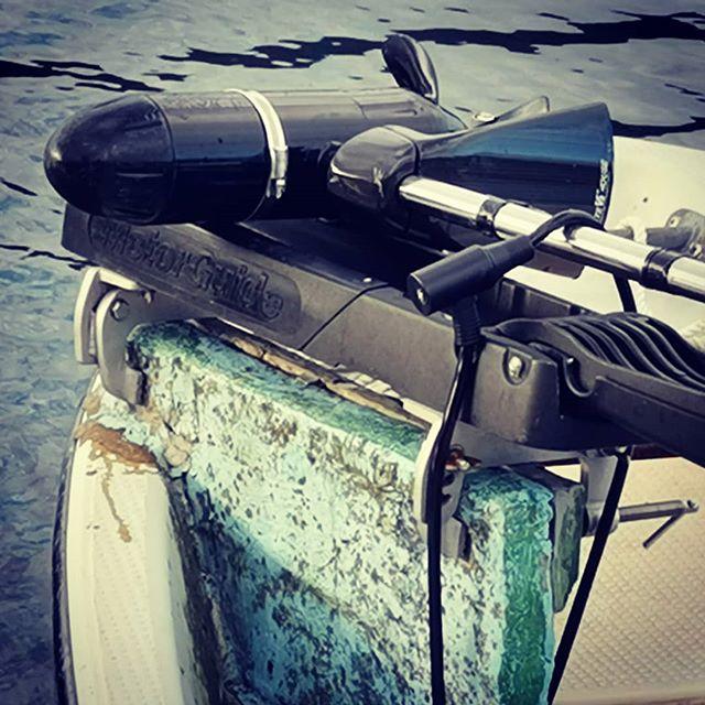 今シーズン、悩まされそうな芦ノ湖戦のエレキ問題。何か良い方法ありませんかね…#芦ノ湖 #レンタルボート #フットコンエレキ #取付に特殊なCクランプが必要らしい #一般的なバウデッキとかを #取付可能なエンジン船は無いものか? #クラシック行けなかったら不要なんですけどね…